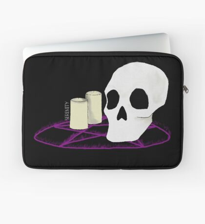 Skull and Candles Laptop Sleeve