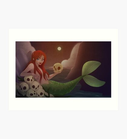 A Mermaid Life For Me Art Print