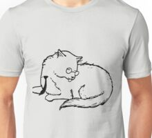 Business Cat - Licking Himself Unisex T-Shirt