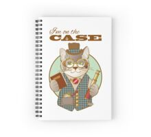 Steampunk Spy Cat I'm on the Case Spiral Notebook