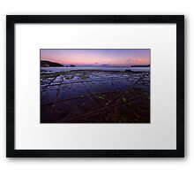Sunset at the Tessellated Pavement Framed Print