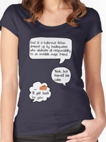 Yeah, but there'll be cake [version 1] Women's Fitted Scoop T-Shirt