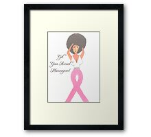 Breast Cancer Gift Items Framed Print