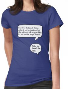 Yeah, but there'll be cake [version 2] Womens Fitted T-Shirt