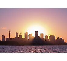 Sydney's Evening Photographic Print