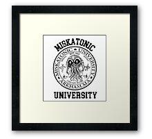 MISKATONIC UNIVERSITY HP LOVECRAFT  Framed Print