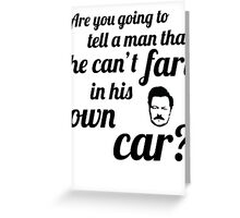 Fart in his car Greeting Card