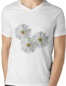 Daisies Mens V-Neck T-Shirt