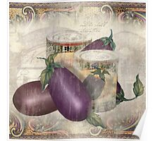 Eggplant Cannery Row, by Alma Lee Poster