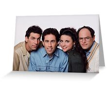 Seinfeld groupe picture Greeting Card