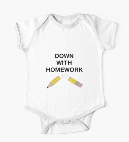 Down With Homework - The Simpsons One Piece - Short Sleeve