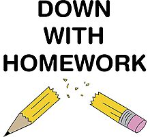 Down With Homework - The Simpsons Photographic Print