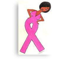 African American Breast Cancer Gift Items Canvas Print