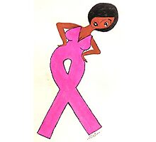 African American Breast Cancer Gift Items Photographic Print