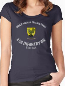 SADF 4 SA Infantry Battalion (62 Mech Bn) Veteran  Women's Fitted Scoop T-Shirt