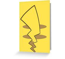 Pikachu Tail Greeting Card