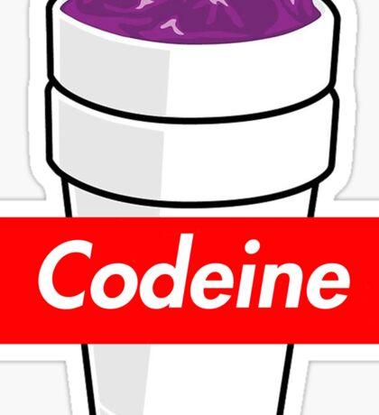 Codeine x Supreme Box Logo Lean Purple Drink Sticker