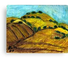California Hills In Summer(Fields Of Gold) Canvas Print