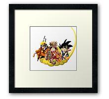 SAN GOKU LUFFY NARUTO  Framed Print