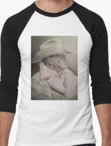 Bum Phillips Portrait Men's Baseball ¾ T-Shirt
