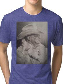 Bum Phillips Portrait Tri-blend T-Shirt
