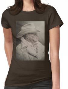 Bum Phillips Portrait Womens Fitted T-Shirt