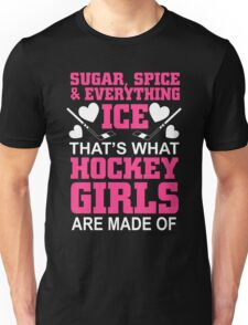 Sugar Spice And Everything Ice Hockey Girls Unisex T-Shirt