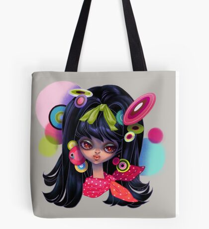 Retro fashion mod girl Tote Bag