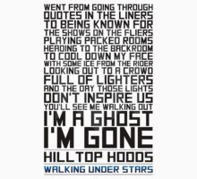 Hilltop Hoods - I'm A Ghost - Black by vanWriten