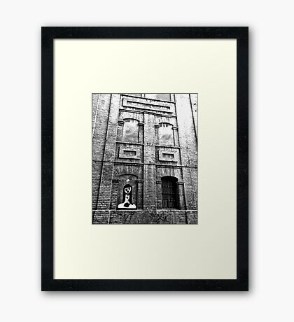 Streetart n Bricks Framed Print