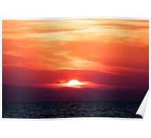 Sunset above Italian sea Poster