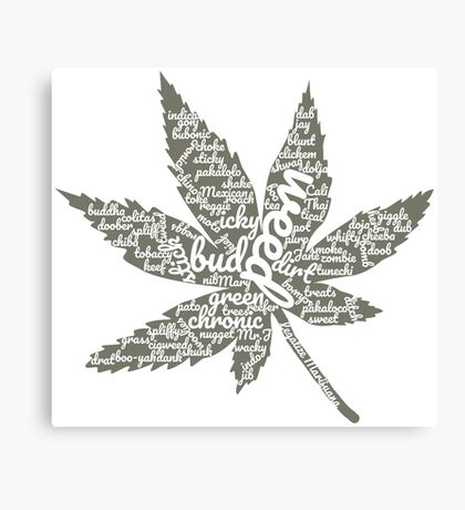 Marijuana Leaf with Many Names Canvas Print