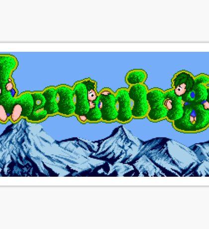 Lemmings (Genesis Title Screen) Sticker