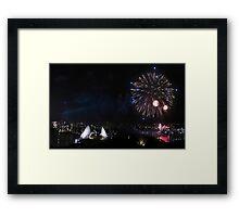 Sydney Opera House NYE Framed Print