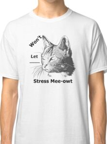 Animal Print-Vector Cat Designs-Stress Mee-owt Classic T-Shirt