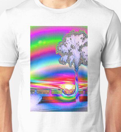 Palmetto rainbow sunset Unisex T-Shirt