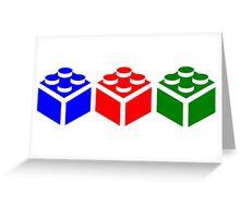 Brick Tricolour Design Greeting Card