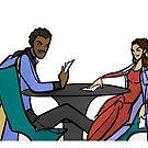 Leia and Lando (The Cardsharps) by caitlin2006