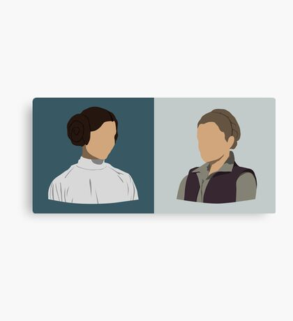 Leia Organa Double Bust Canvas Print
