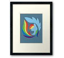 Emblem of Harmony - Rainbow Dash Framed Print