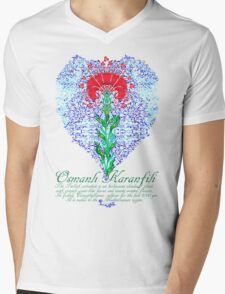 Osmanlı Karanfili Mens V-Neck T-Shirt