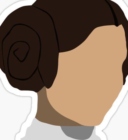 Princess Leia Head Sticker