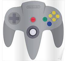 Nintendo 64 Controller Design Poster