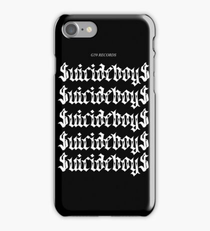 $uicideboy$ G59 Trap Trill White Logo  iPhone Case/Skin