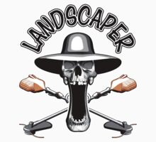Landscaper Skull: Grass Trimmers by dxf1969