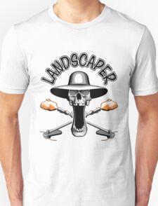 Landscaper Skull: Grass Trimmers T-Shirt