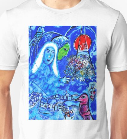Field of Mars - Tribute to Chagall Unisex T-Shirt
