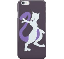 Smashing Mewtwo Vector iPhone Case/Skin