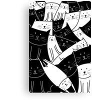 The Cats are Watching B/W Canvas Print