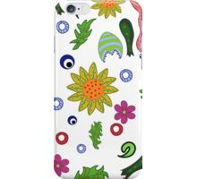 seamless pattern with fantastic flowers and leaves iPhone Case/Skin